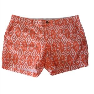 Old Navy Plus Size Orange Aztec Print Shorts